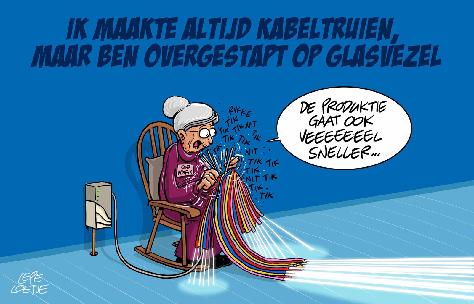 Lepe Loetje Cartoons Glasvezel