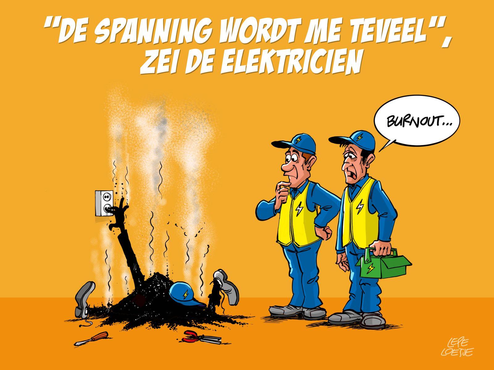 Lepe Loetje Cartoons Elektricien